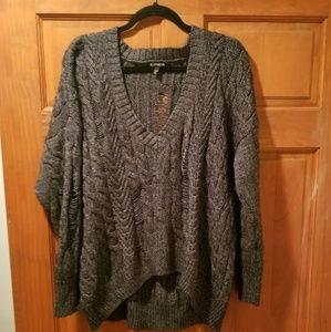 Express V Neck Oversized Sweater